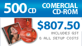 500 CD Replication, (Manufactured) Full colour CD inlay in jewel case